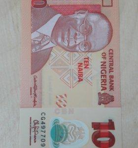 Нигерия - 10 Найра 2015 UNC (ПОЛИМЕР)