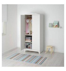 Шкаф для детской, белый  (IKEA, Хенсвик)