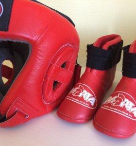 Шлем боксерский+ футы
