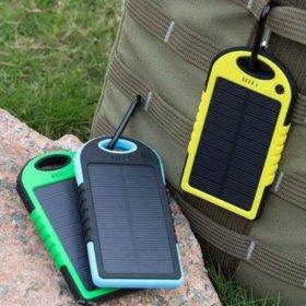 PowerBank с солнечной батареей, портативное зарядное устройство (5000 mAh)