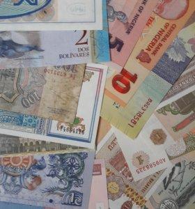 24 банкноты разных стран