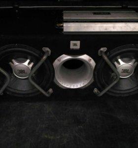 Сабвуфер(JBL GT5-2402BR)+ усилитель