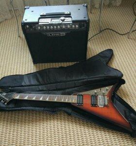 Комплект гитара усилитель
