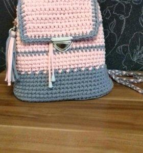 Рюкзак вязанный