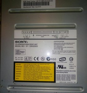 SONY CD-R/RW/DVD-ROM DRIVE UNIT CRX320EE