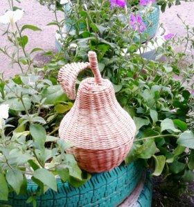 Плетёная груша - шкатулка