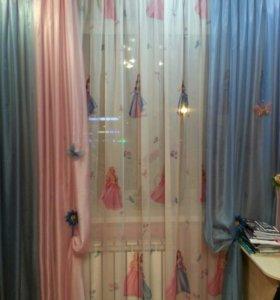 Тюль и шторы в детскую для девочки
