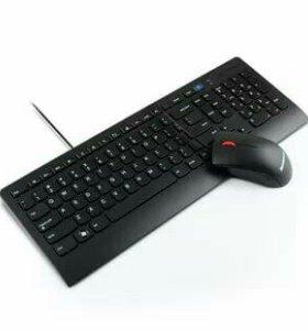 Клавиатура и мышка Lenovo проводные