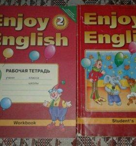 Раб. тетрадь и учебник по английскому за 2 класс
