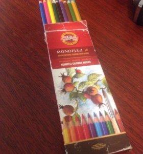 Цветные акварельные карандаши