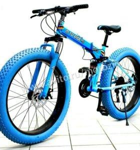 """Фэтбайк 26"""" Ride, складной, 7 ск. синий"""