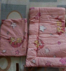 Набор в кроватку розовый