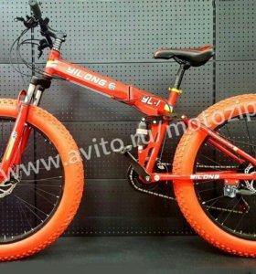 Велосипед Фэтбайк 26 Ride складной 7 ск redblack