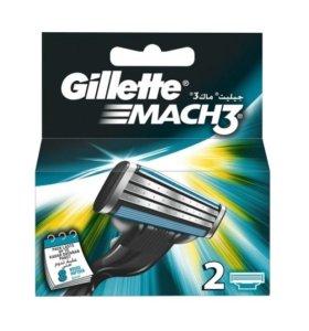 Кассеты Gillette Mach3 (пр-во Германия)