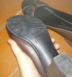 Туфли кожаные.