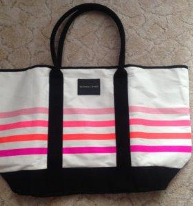 Фирменная пляжная сумка victoria secret