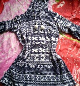 Домашнее теплое платье 50-52 новое эйвон