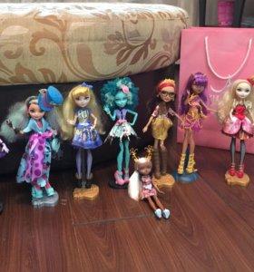 Куклы Ever after high и monster high