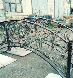 Ворота оградки навесы перила кровати и многое др.