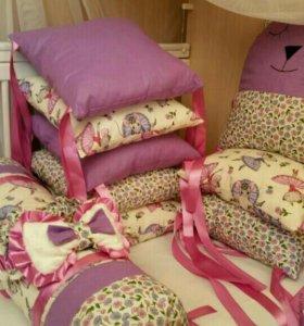 Пошив бортиков в кроватку!!
