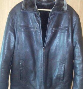 Куртка экокожа 54-56 новая на меху