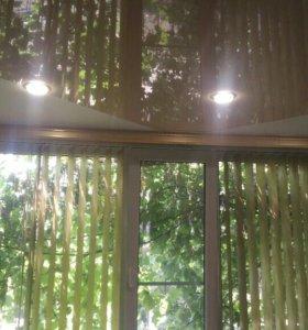 Бесшовные натяжные потолки