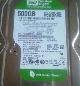 Жесткий диск на 500гб новый торг