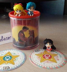 Кружка и фигурки Sailor Moon