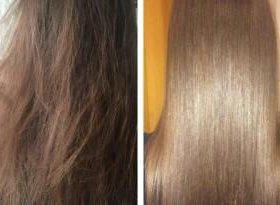 Кератиновое выпрямление и восстановление волос.
