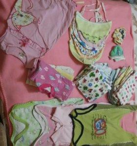 одежда на ребеночка 56 размер (0-3 мес)