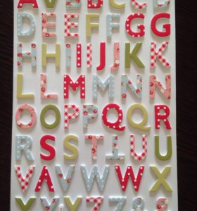 Наклейки буквы. Скрапбукинг.