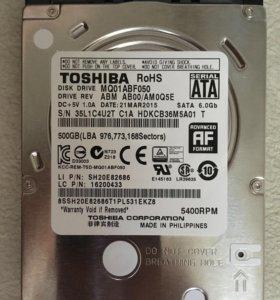 Жесткий диск для ноутбука Toshiba 500GB SATA новый