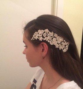 Свадебная заколка для волос