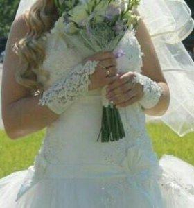 Свадебное платье размер 46-50
