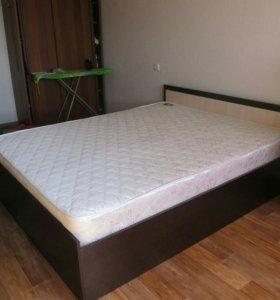 Кровать двуспальная 160х200 с матрасом - Венге