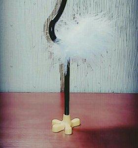 Декоративная ручка страус