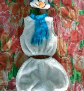 Детский костюм снеговика 4-6 лет