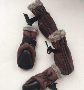 Тёплые ботиночки для собачки