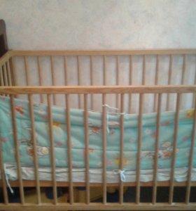 Кроватка детская без матрасика