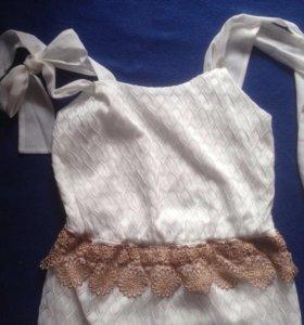 Шикарное авторское платье-комбез НоВое! Свадебное