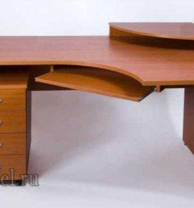 Офисный угловой стол с тумбой