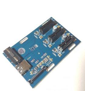 Переходник 1 PCIE 3 PCIE