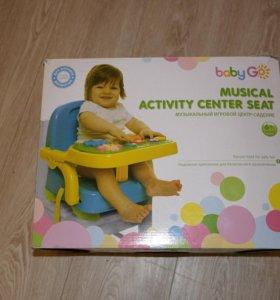 стульчик для кормления+музыкальный игровой центр