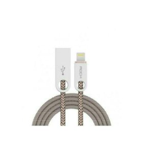 ROCK Cobblestone Charge & Sync Round Cable 180cm