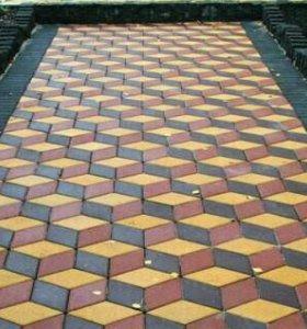Виброуклатка тротуарной плитки