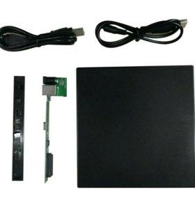Внешний USB бокс для DVD/CD/bluray slim привода