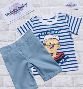 Костюм шорты и футболка