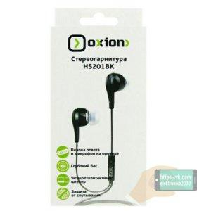 Наушники с микрофоном Oxion NS201. Черные