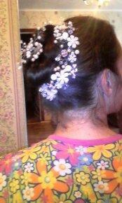 веточка в причёску для невесты