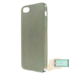 Накладка силиконовая для iPhone 5 5s. Черная